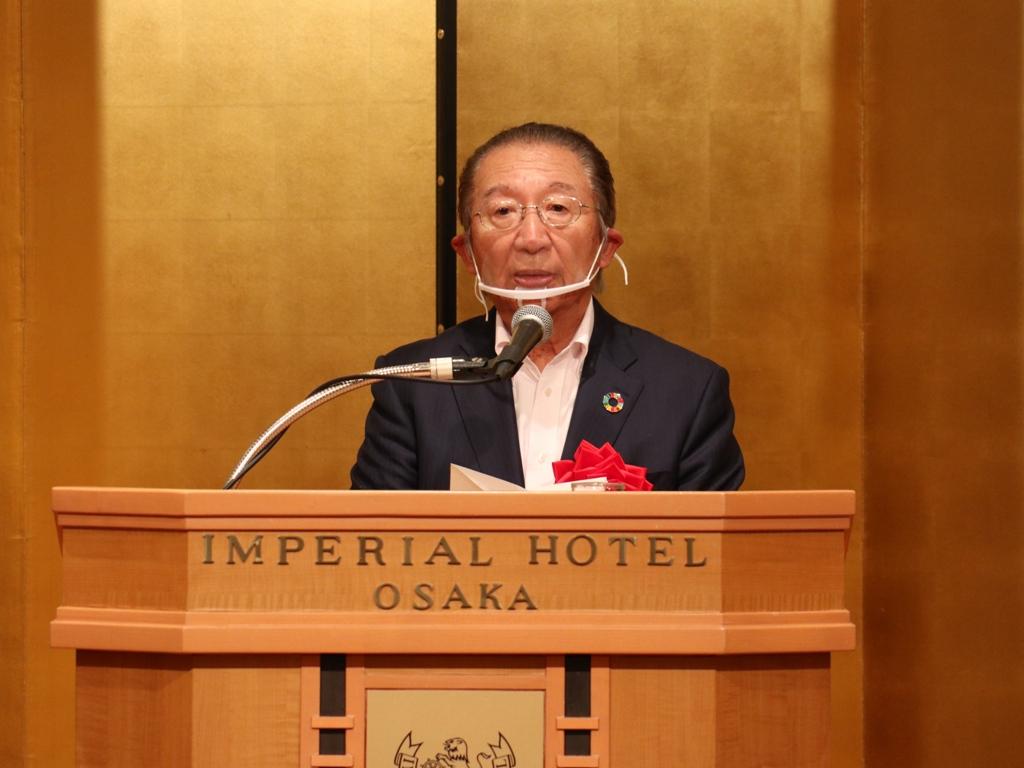 祝辞:日本電気協会関西支部                    支部会長 藤 洋作 氏